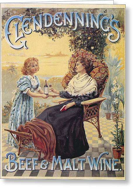 Greeting Card featuring the photograph Glendenning's Beef And Malt Wine Ad by Gianfranco Weiss