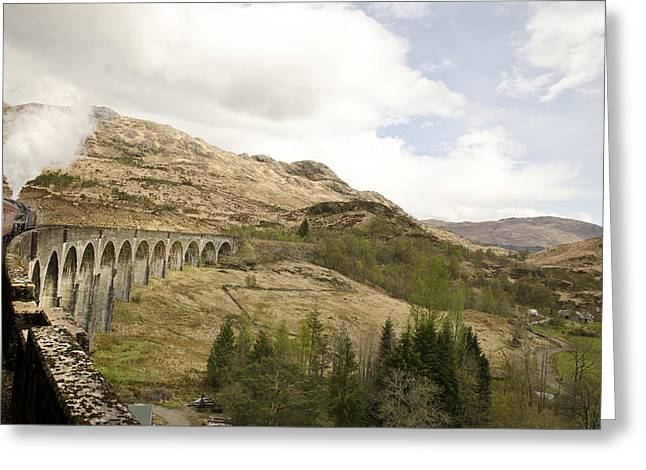 Glenfinnan Train Viaduct Scotland Greeting Card