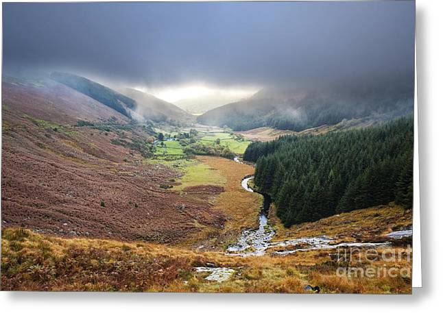 Glenmacnass 1 Greeting Card by Michael David Murphy