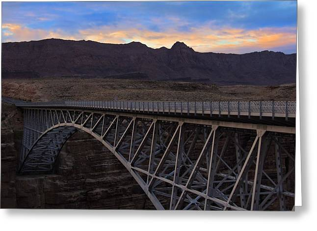 Glenn Canyon Bridge Greeting Card by Laura Ragland