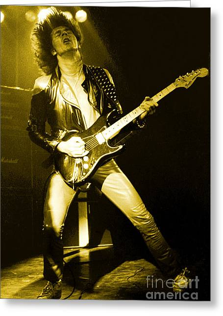 Glenn Tipton Of Judas Priest At The Warfield Theater During British Steel Tour - Unreleased Greeting Card