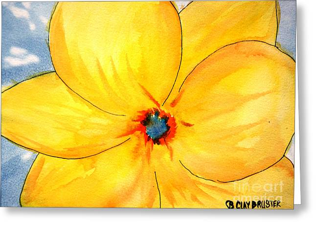 Greeting Card featuring the painting Glicee Cyan-a-floral by Clayton Bruster