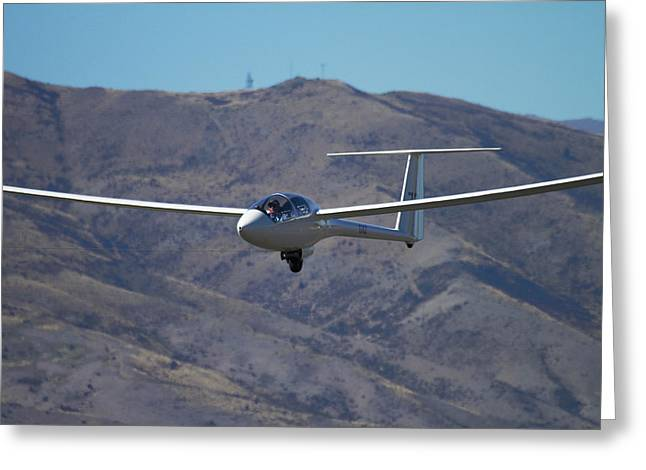 Glider, Warbirds Over Wanaka, Wanaka Greeting Card by David Wall