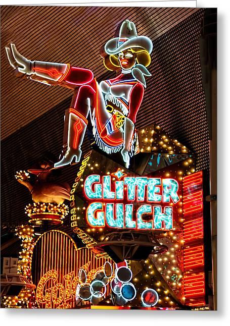 Glitter Gulch - Downtown Las Vegas Greeting Card