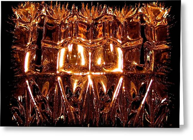 Glittering Glass Greeting Card by Will Borden