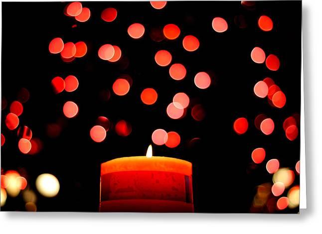 Glittering Lights Greeting Card by Marwan Khoury