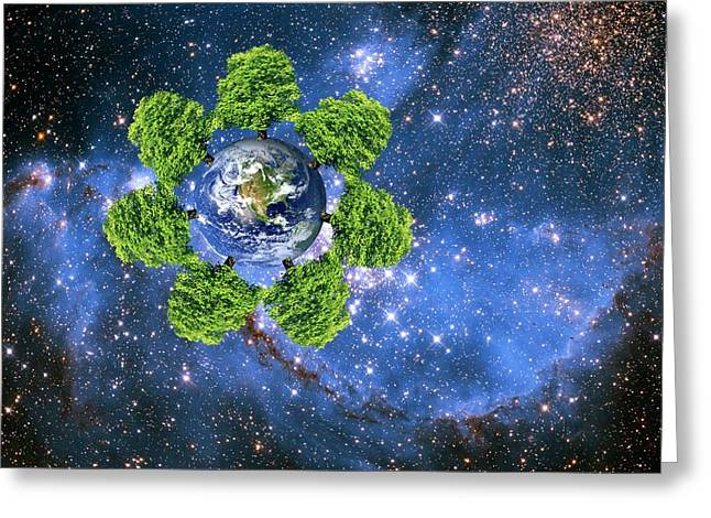 Global Environment Greeting Card by Victor De Schwanberg