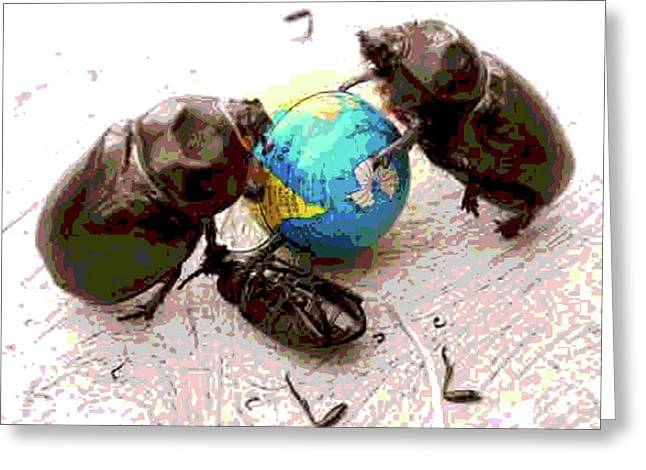 Global Harming Greeting Card by Joe Jake Pratt