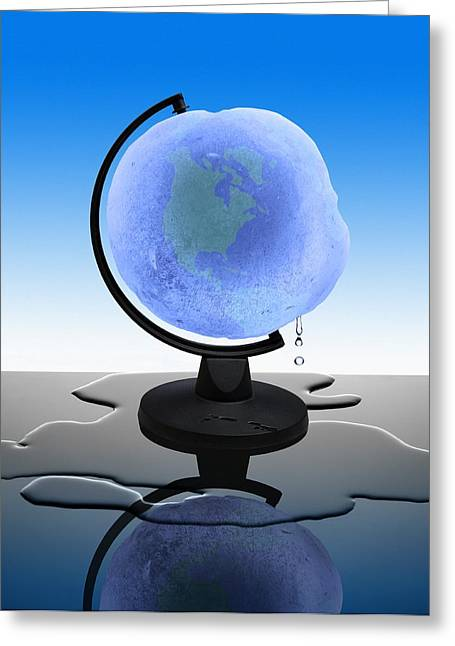 Global Warming, Conceptual Image Greeting Card by Science Photo Library