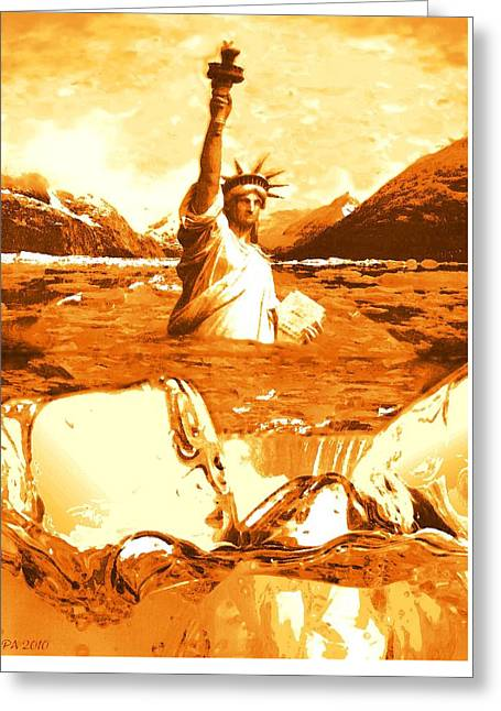 Global Warming Climate Change - Environmental Art Greeting Card by Art America Online Gallery