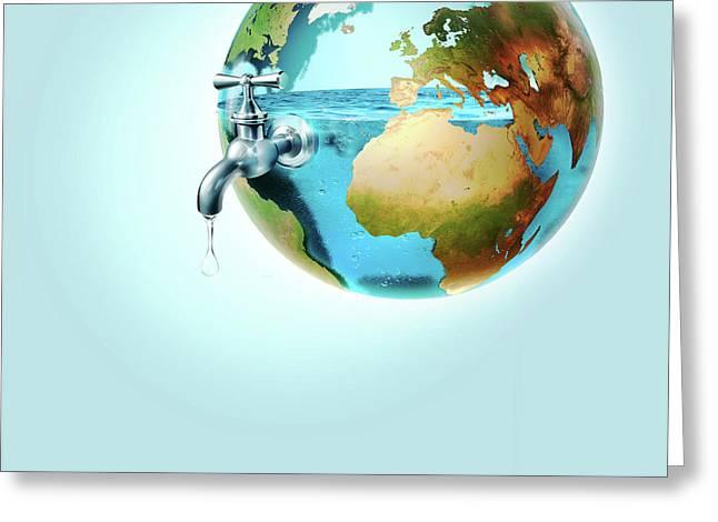 Global Water Supply Greeting Card