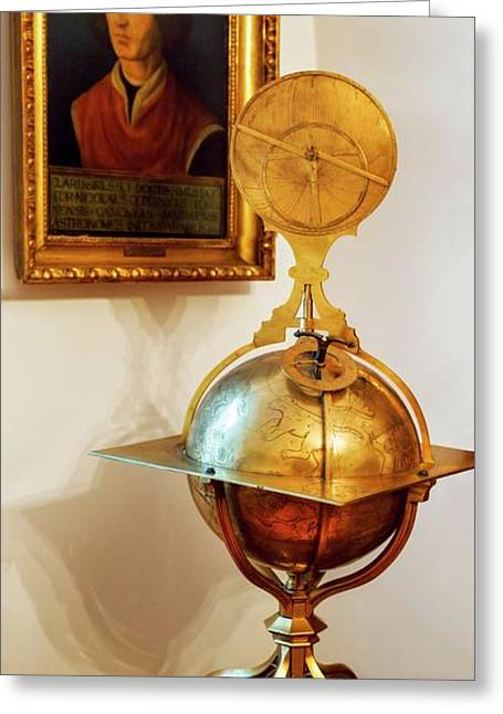 Globe And Portrait Of Copernicus Greeting Card
