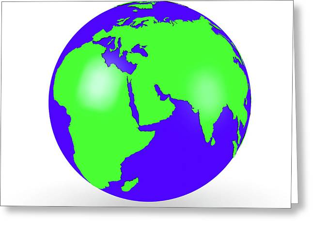 Globe Greeting Card by Wladimir Bulgar