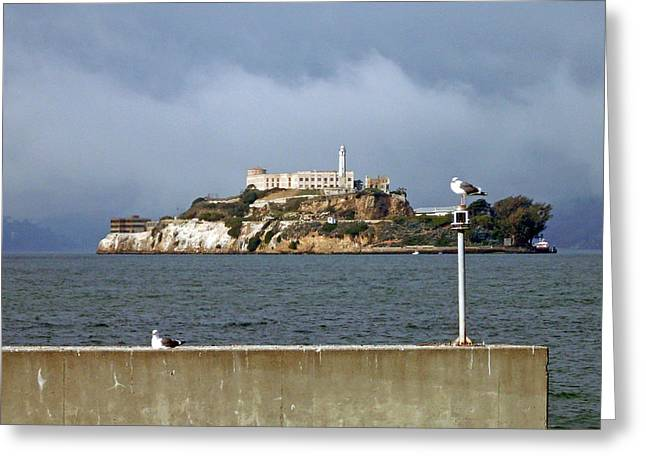 Gloomy Prison Greeting Card by Mike Podhorzer