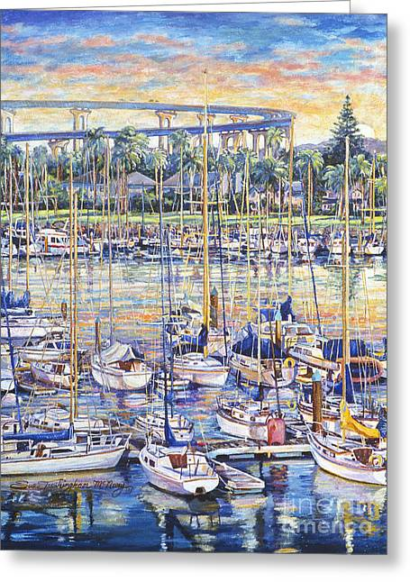 Glorietta Bay Sunrise Greeting Card