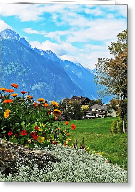 Glorious Alpine Meadow Greeting Card