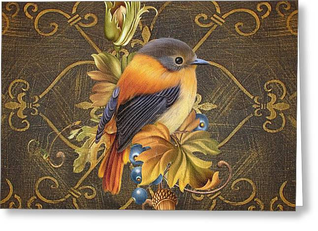 Glorious Birds-a Greeting Card by Jean Plout