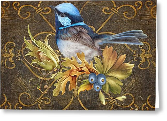 Glorious Birds-b Greeting Card by Jean Plout