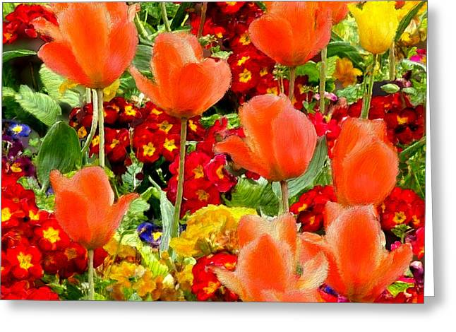 Glorious Garden Greeting Card by Bruce Nutting