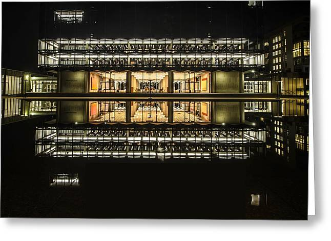 Glorious Modern Architecture At Night Greeting Card
