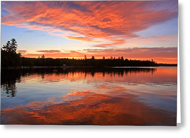 Glorious Sunrise At The Lake Greeting Card