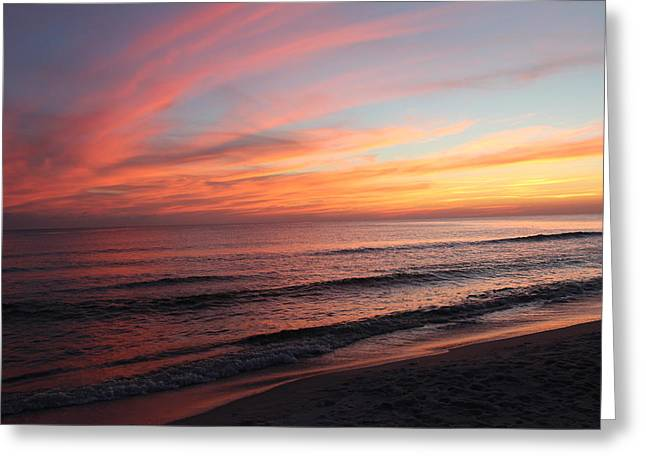 Glorious Sunset Greeting Card by Vicki Kennedy