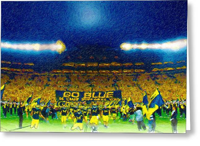 Glory At The Big House Greeting Card