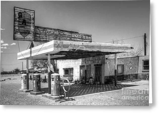 Glory Days Of Route 66 Greeting Card by Bob Christopher
