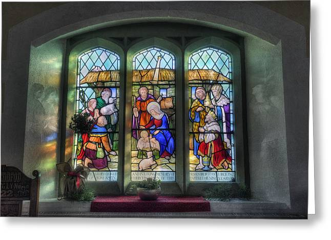 Glory Of God Greeting Card by Ian Mitchell