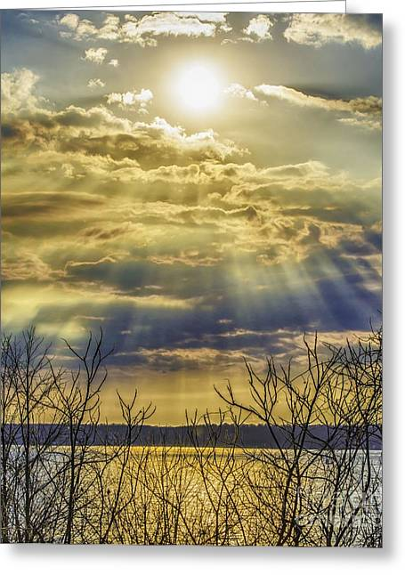 Glory Rays Greeting Card