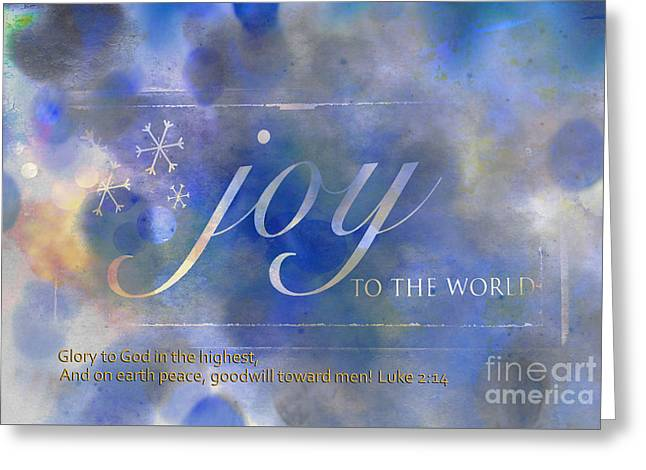 Glory To God In The Highest Greeting Card by Beverly Guilliams