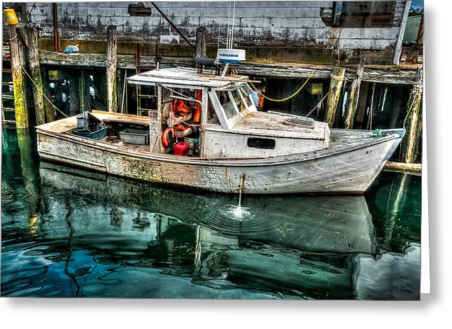 Gloucester Boat Greeting Card by Fred LeBlanc