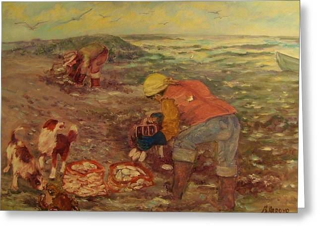 Gloucester Clam Diggers Greeting Card