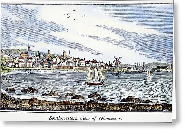 Gloucester Harbor, 1844 Greeting Card