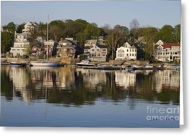Gloucester Harbor I Greeting Card by Davie Gordon