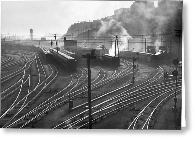 Glouster Railroad Yards Greeting Card