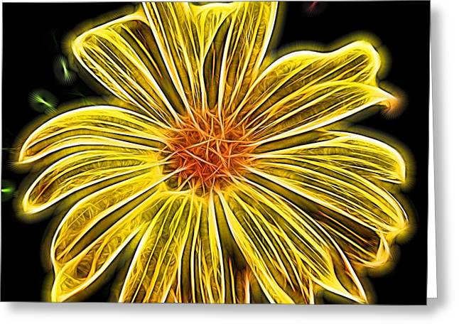 Glow In The Dark Greeting Card by Judy Vincent