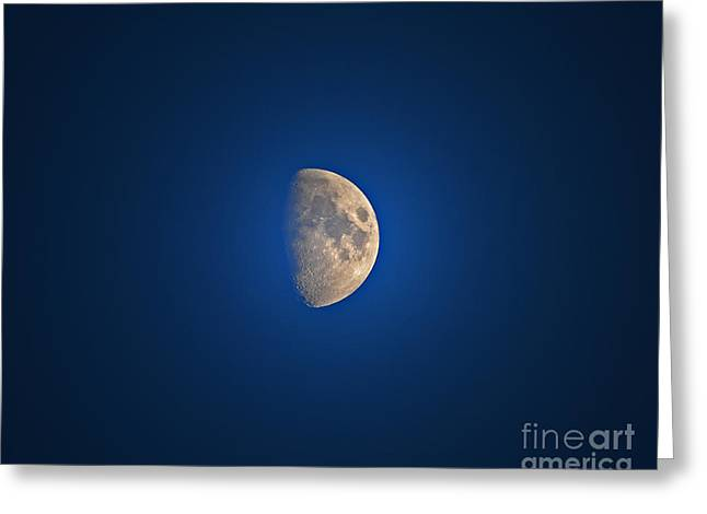 Glowing Gibbous Greeting Card by Al Powell Photography USA