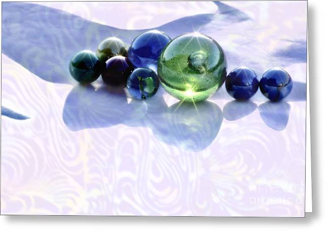 Greeting Card featuring the photograph Glowing Marbles by Cynthia Lagoudakis