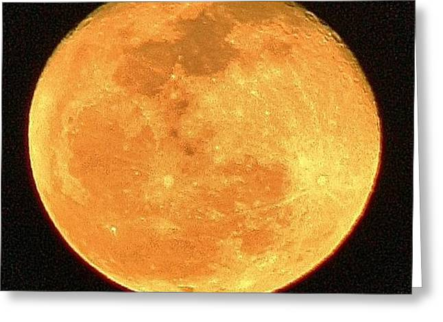 Glowing Moon Greeting Card by Bruce Bley