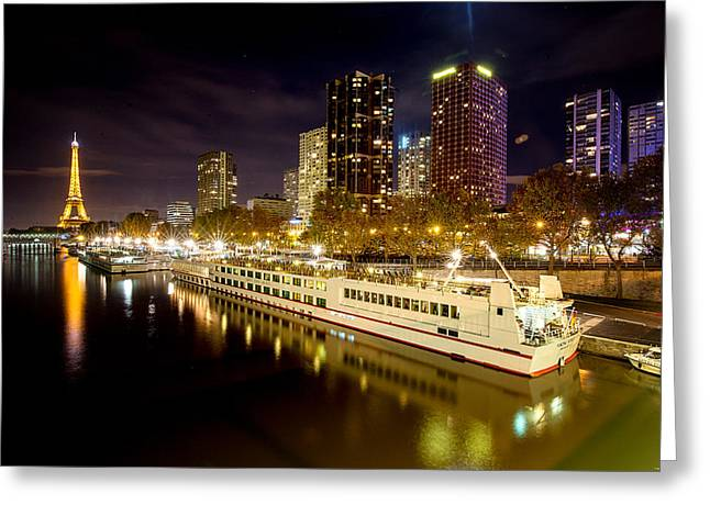 Glowing River Greeting Card by Ryan Wyckoff