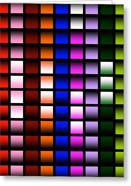 Glowing Squares  Greeting Card by Gayle Price Thomas