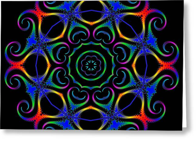 Glowworm Circle Greeting Card by Pat Follett