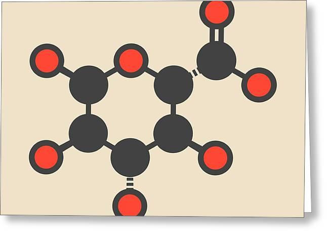 Glucuronic Acid Molecule Greeting Card