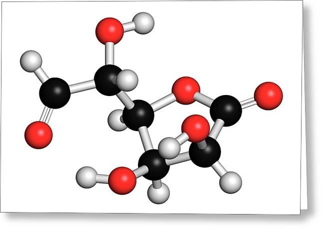 Glucuronolactone Molecule Greeting Card