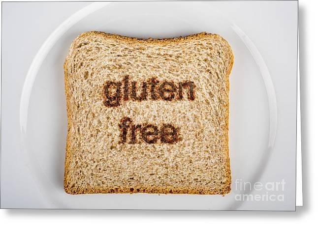 Gluten-free Greeting Card by Tony Priestley