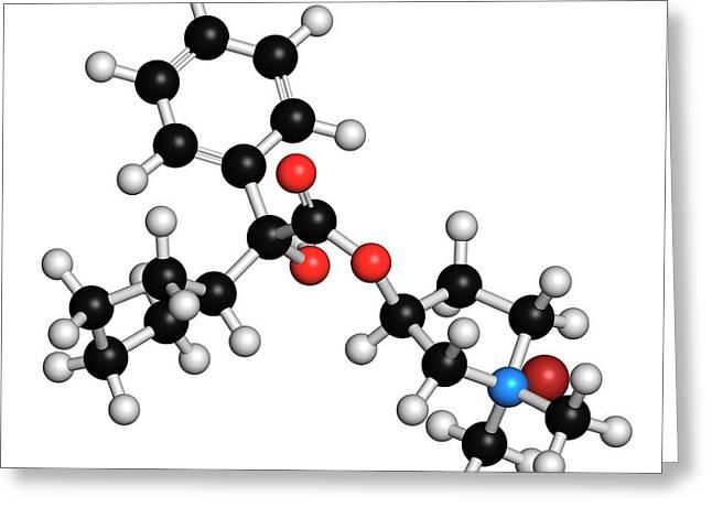 Glycopyrronium Bromide Copd Drug Molecule Greeting Card by Molekuul