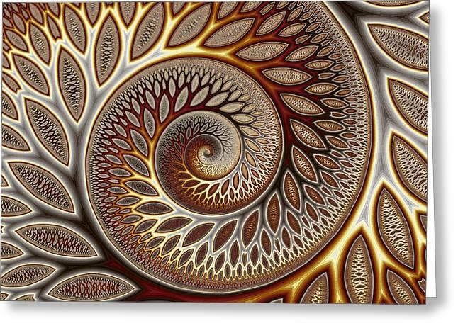 Glynn Spiral No. 1 Greeting Card by Mark Eggleston