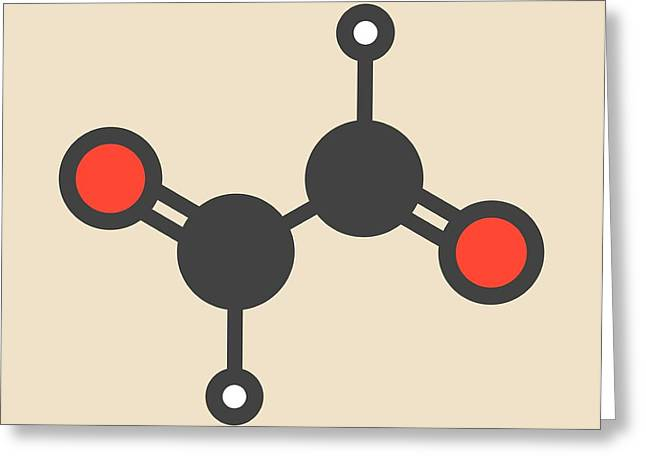 Glyoxal Dialdehyde Molecule Greeting Card