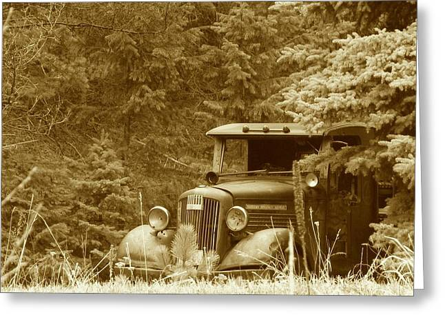 Gm Truck  Sepia Greeting Card by Steven Parker